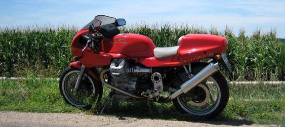 motorcycle cornfields