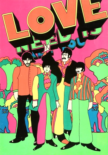 black light Beatles
