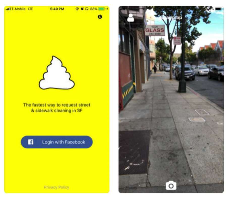 The Snapcrap App for SanFrancisco