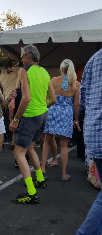 Fluorescent Man at the Wine Festival