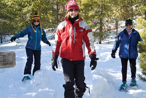 Snowshoeing with theGirls